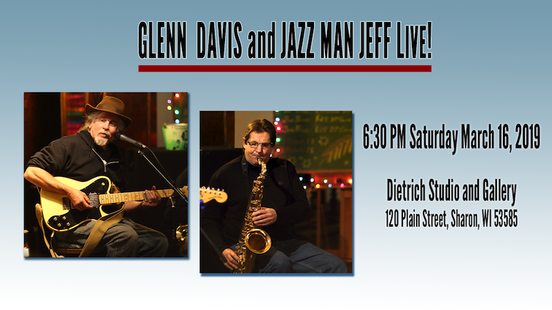 Glenn Davis Blues and Jazz Man Jeff